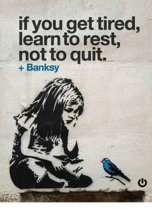 Banksy - relax don't quit